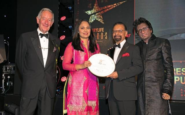 Syed Khan collects our award for best Indian restaurant in Central London